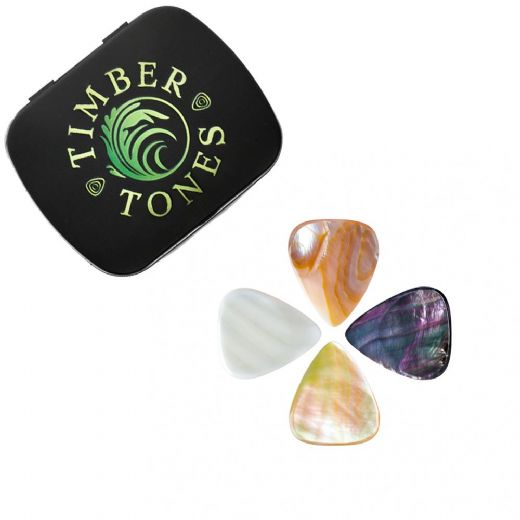 Shell Tones Mixed Tin of 4 Guitar Picks